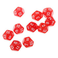 10pcs/pack Twelve Sided Dice D12 for Playing D&D RPG Party Games Dices, Red