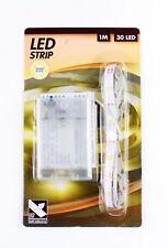 30er LEDs Strip Leiste,SMD Lichte Lichterkette Batteriebetrieben 1 m Warmweis