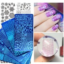 60 NAIL ART STAMPING PLATE STENCIL TEMPLATE IMAGE PLATES FLOWERS BUTTERFLY CH...
