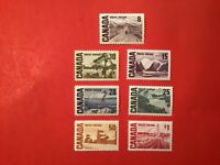 """Canadian Stamp #461-#465b... """"Centennial Definitives, High Values"""" (m/nh)"""