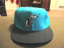 NEW VINTAGE Florida Marlins New Era Fitted Hat Size 7 1/4 Miami 100% Wool MLB