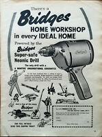 Bridges There's A Bridges Home Workshop In Every Ideal Home Vintage Advert 1959