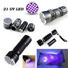 UV Ultra Violet 9/21/51 LED Flashlight Mini Blacklight Aluminum Torch Light Lamp