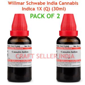 2 X 30 ml Dr Willmar Schwabe Homeopathy Cannabis Indica Mother Tincture Q USA