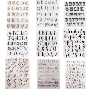 Letters Numbers Alphabet Silicone Clear Stamps Scrapbooking Crafts Journal DIY