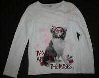 New Gymboree Paw and Smell the Roses Dog With Glasses Top Tee Shirt Size 4 NWT