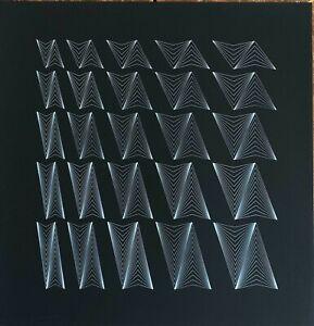 Angelo Giuseppe Bertolio serigrafia Forme Triangolari 70x70 firmata 1977