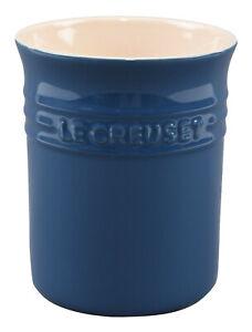 LE CREUSET Dark Ink Blue Stone Utensil Jar 15 x 12.5cm