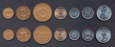 SWEDEN COIN SET 1+2+5+5+10+25+50 Öre 1971-1973 UNC UNCIRCULATED LOT of 7