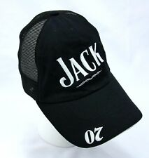Jack Daniels Black & White Embroidered Mesh Baseball Cap Hat, Adjustable, Old #7
