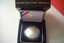 2014  BASEBALL HALL OF FAME SILVER PROOF DOLLAR w/COA -U.S.MINT PKG.