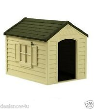 New listing Dog House Vinyl Door Durable Easy To Assemble Up to 70 lbs Dogs Resin Pets Home