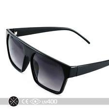 Trendy Black Flat Top Hipster Fashion New Sunglasses Glasses S093