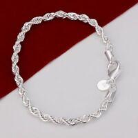 ASAMO Damen Herren Armband 925 Sterling Silber plattiert Schmuck A1207