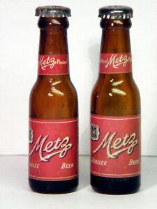 Pair of METZ Jubilee Beer Mini Bottle Salt & Pepper Shakers, Omaha, Nebraska