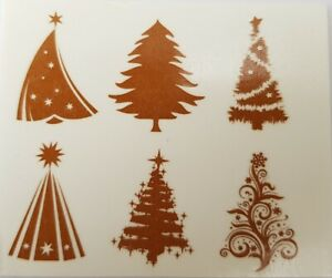 Fused Glass Materials and Supplies - Christmas Tree Decal Silver Lustre