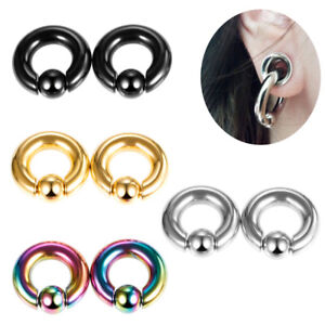 Fashion Surgical Steel Captive Bead Ring Cartilage Ear Piercing Tragus Lip Hoop