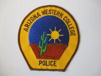 vintage Arizona Western College Uniform MINT Police Patch