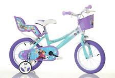 "Dino Disney Frozen Kids Girls Single Speed Bike Bicycle Stabilisers 14"" Wheels"