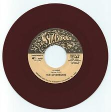DOO WOP 45 THE KEYSTONERS GOSSIP ON STARBOUND VG+ MAROON WAX