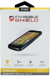 Zagg Invisible Shield Original Motorola Moto G Screen Protector  (IL/PL1-1565...