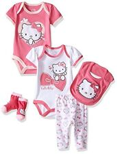 Hello Kitty Baby Girls' Baby Gift Set, Pink Carnation, 3-6 Months