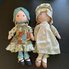 Knickerbocker Holly Hobbie And Heather Dolls 16� Vintage