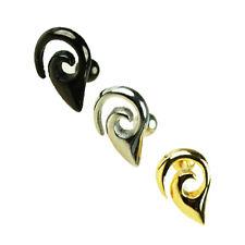 Tribal Ornament Ohr Helix Tragus Piercing Schmuck 1,2mm Silber Gold oder Schwarz