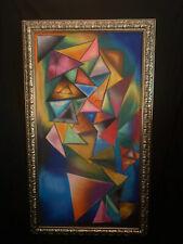 (craie pastel sur tissu ) Abstract original Piece by Julio Cesar Estrada