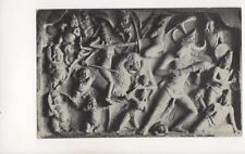 Stone Carvings Mahabalipuram India Vintage Postcard 376b