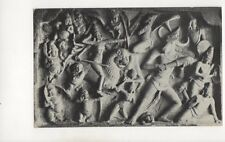 Stone Carvings Mahabalipuram India Vintage Postcard 376b