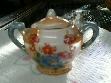 Vintage Lusterware sugar bowl for childs tea set, Japan