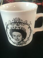 Queen Elizabeth Silver Jubilee 1952 1977 royalty Royal Coffee Cup Porcelain Mug