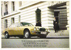 DAIMLER SOVEREIGN 3.4 4.2 DOUBLE SIX SALOON ORIG 1977 FACTORY UK SALES BROCHURE