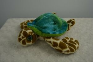 First & Main Under the Sea Turtle Plush Stuffed Animal Toy Green Blue Brown Tan
