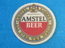 Vintage Beer Coaster: AMSTEL Lager ~ Holland Brewery ** Add'l Coasters $0.25 S&H