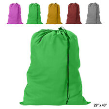 3 Heavy Duty Jumbo Sized Laundry Bag Nylon 29 x 40 College Home Dorm Gym New
