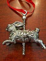 Arthur Court Christmas Collectible Ornament:   Bunny on Carousel Year 2014