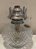 Vintage 1985 Clear Pattern Glass Oil Kerosene Hurricane Lamp Glass |No Shade|