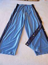 Vintage Tearaway Breakaway Pants L Snap Mens USA Shiny Blue Color block Poppers