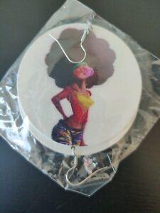 Black Woman Earrings Handmade Powerful Phenomenal Woman