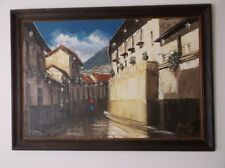 Original oil paintings , set of two, 29 x 42 signed by the artist Alfonso Arbri.