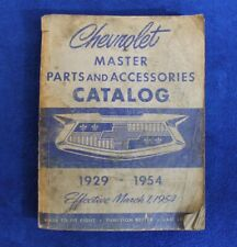 New Listing1929-1954 Chevrolet Master Parts and Accessories Catalog Bowtie (Fits: Truck)
