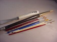 Lot of 9 Artist Brushes & #10 Bob Ross Palette Knife