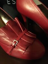 New Escada Red Heels Size 8  Made in Italy Orig. $450.00
