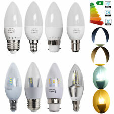 12x E14 B15 B22 E27 8W 6W 5W 3W LED Candle Light Bulbs Spotlight Flame Downlight
