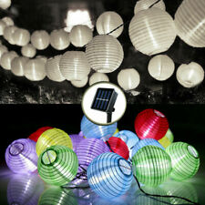 20/30LED Chinese Lantern Solar String Light Garden Fairy Lamp Outdoor Xmas Party