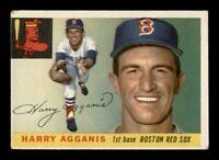 1955 Topps Set Break # 152 Harry Agganis VG Crease *OBGcards*