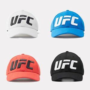 Reebok UFC Logo Baseball Hat MMA Training Cap Unisex Combat Black Grey Red FL519
