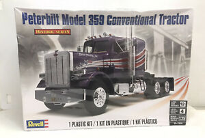 Revell Peterbilt 359 Conventional Tractor Model Kit 1/25 Historic Series Level 4